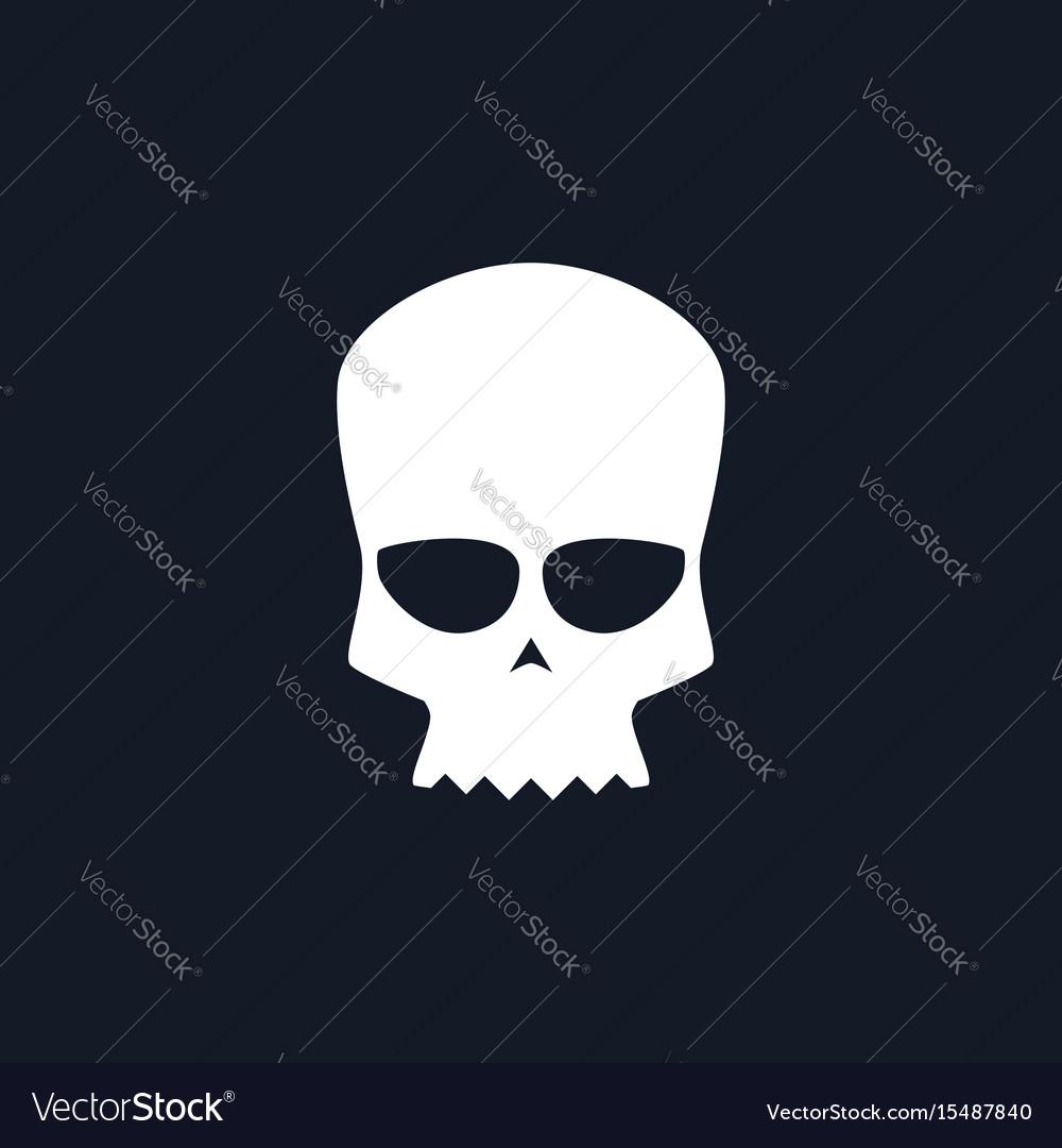 White biker skull