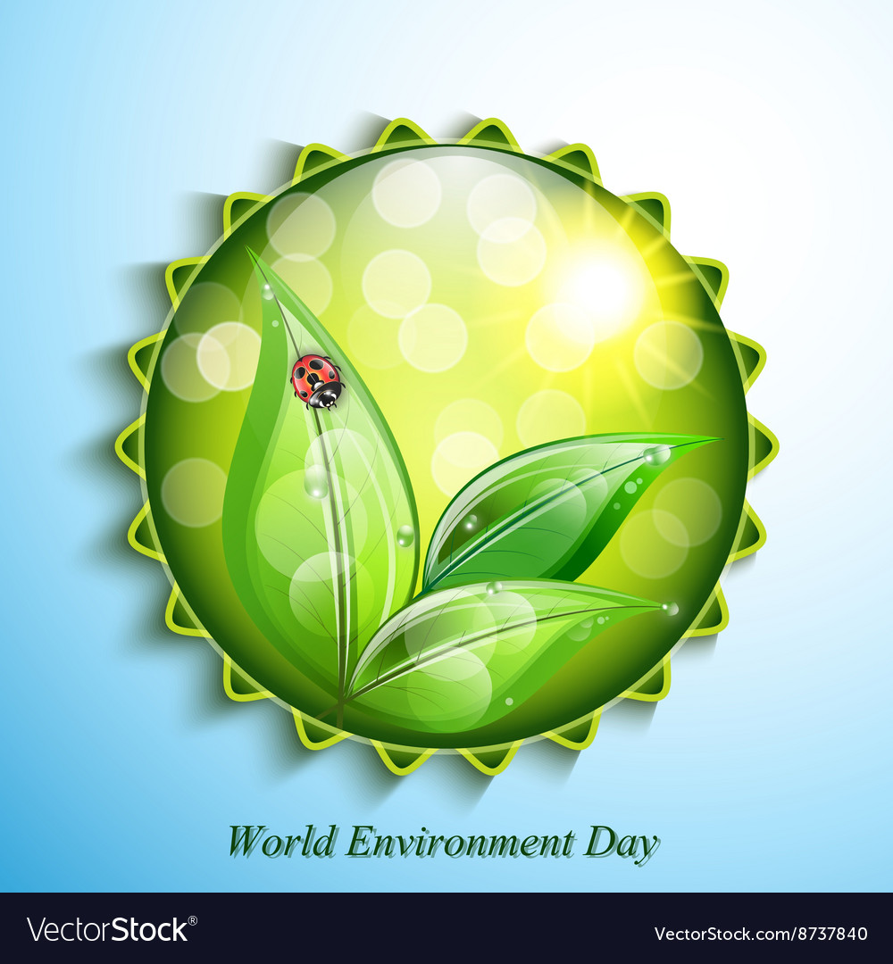 World environment day sign on blue background