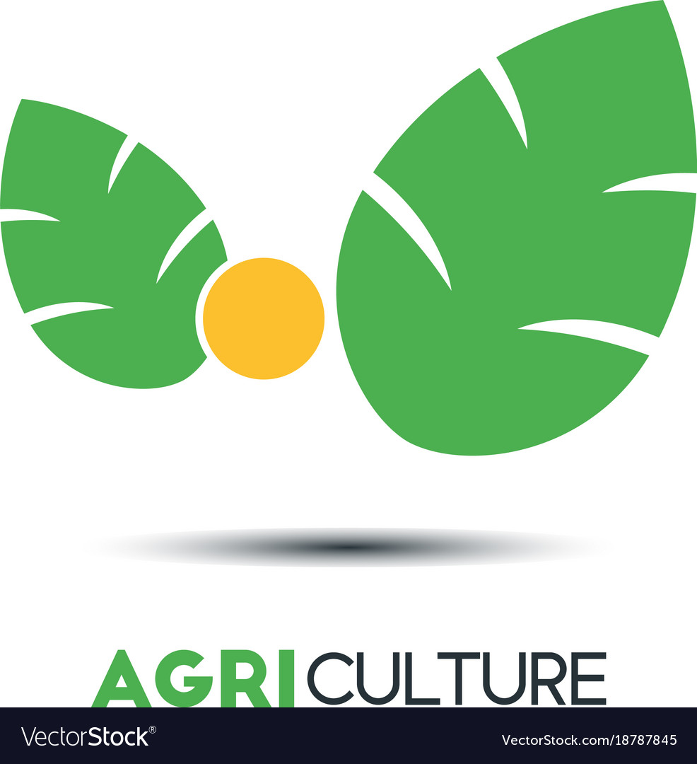 Agriculture business logo template two green vector image accmission Choice Image