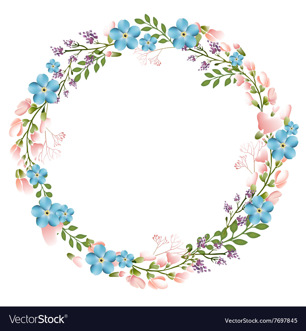 Autumn Floral Frame Collections vector image