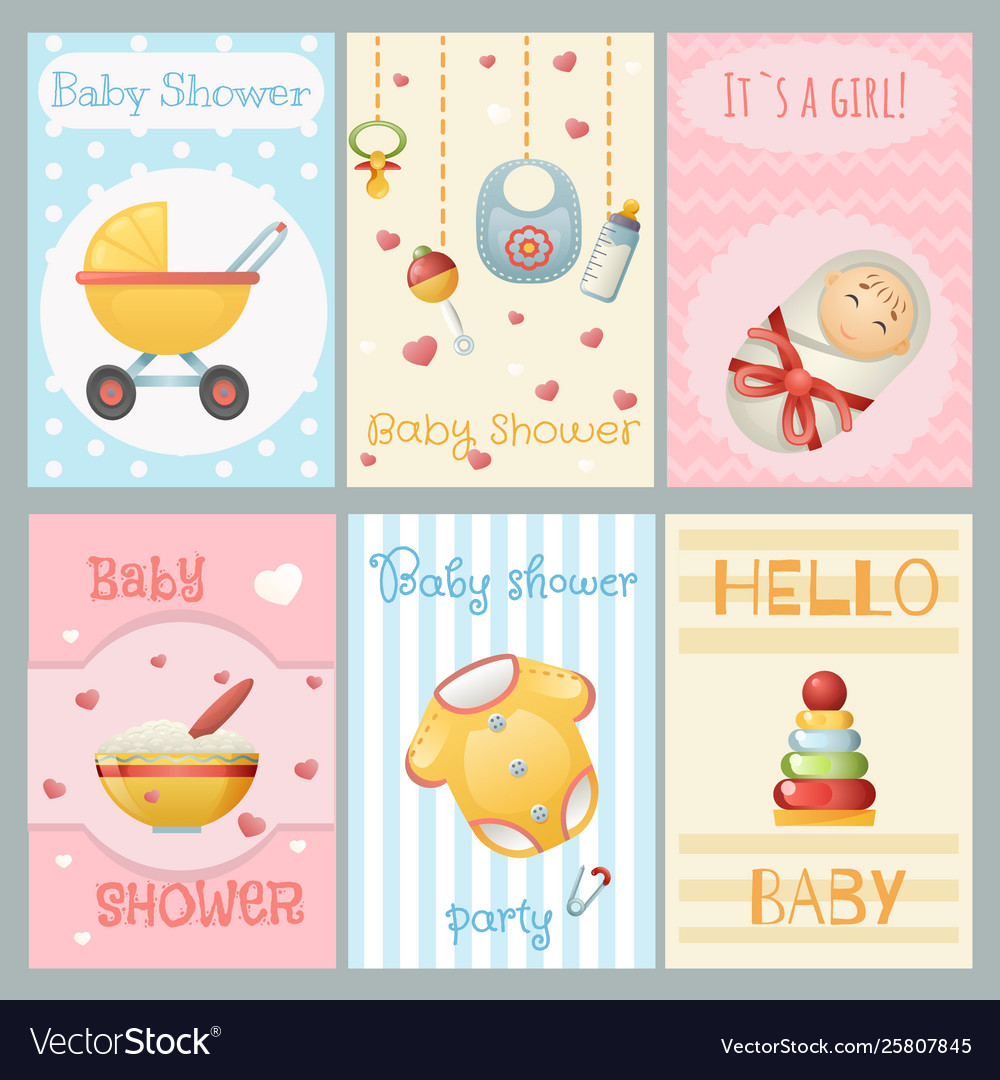 Bashower cards boy girl birthday celebrate