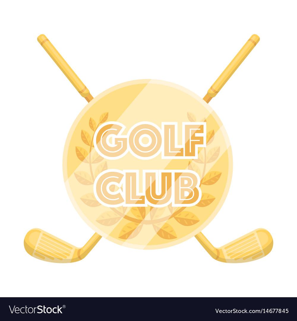 Emblem of the golf clubgolf club single icon in