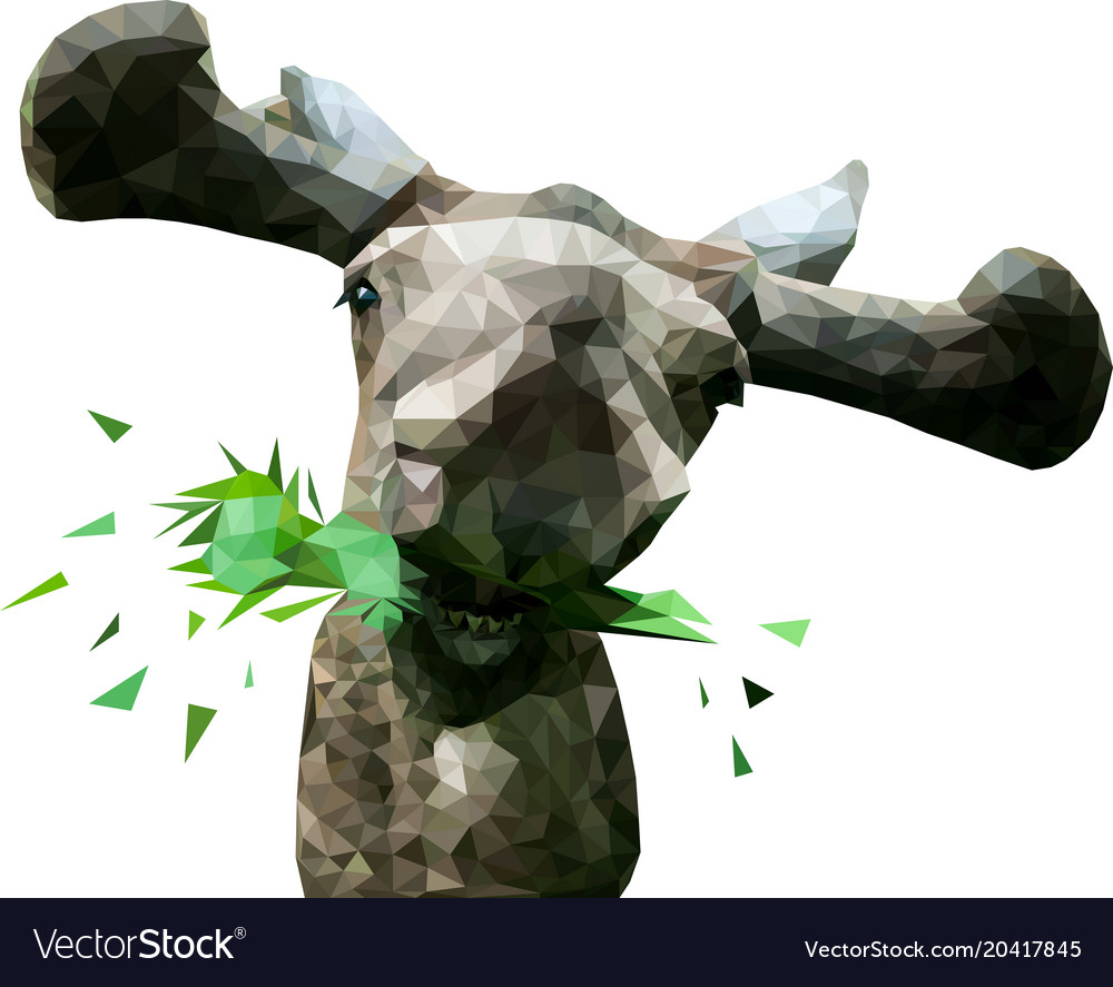 Low poly elk