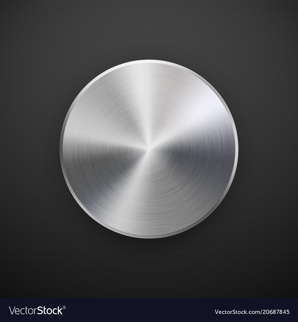 Metal circle badge