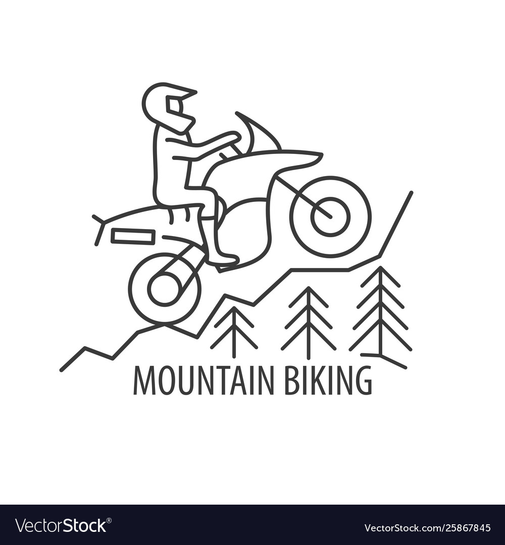 Motorbike line icon