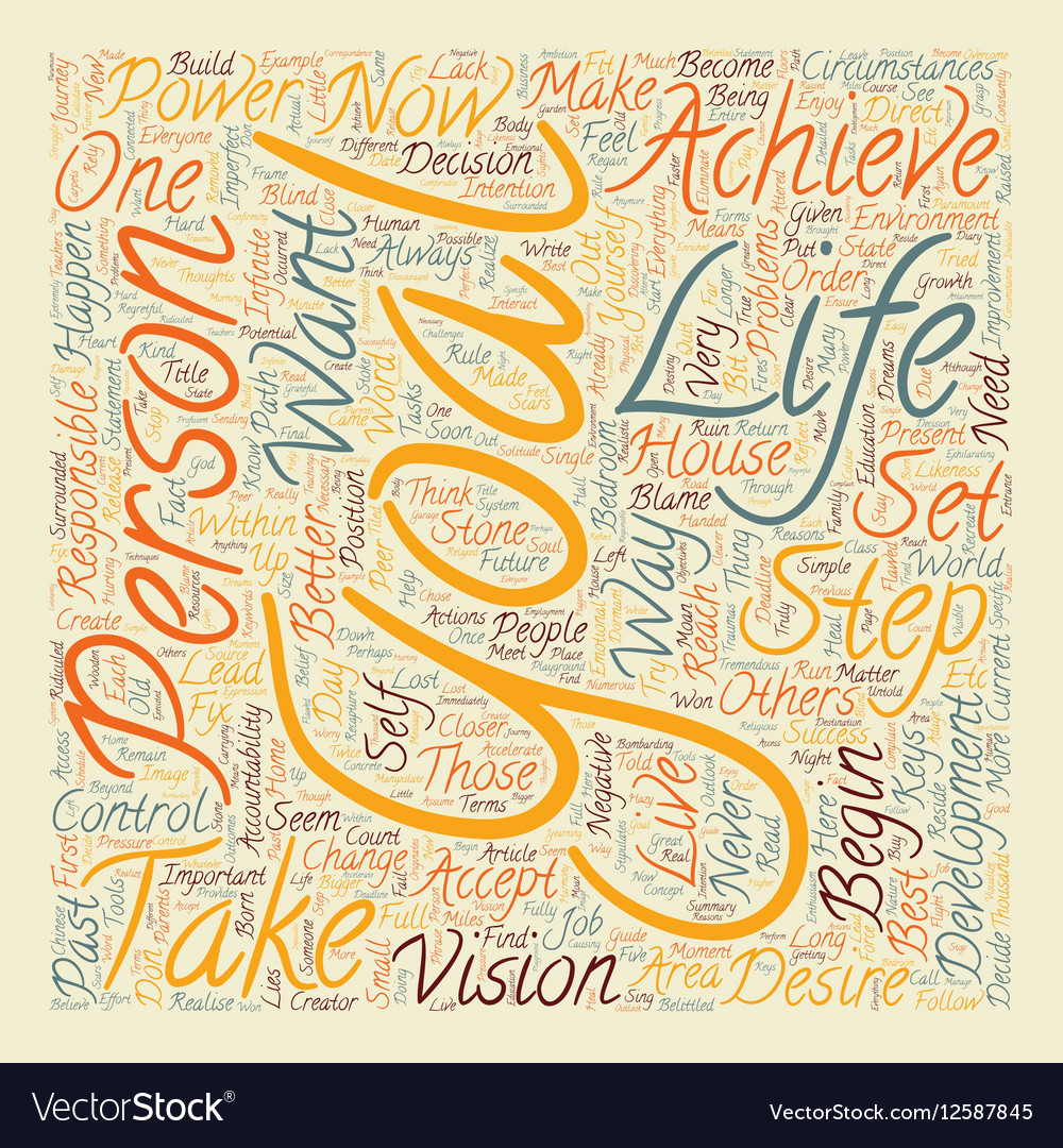 Personal Development Power Steps text background vector image