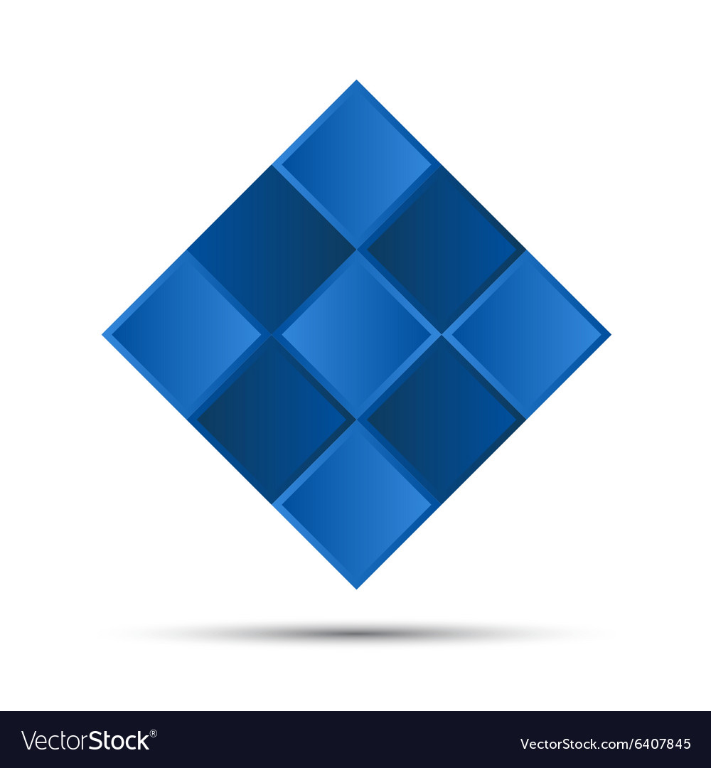 Simple blue graphic symbol vector image