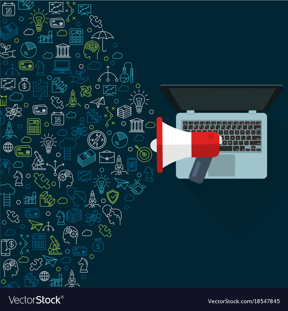 Social networking promotion vector image