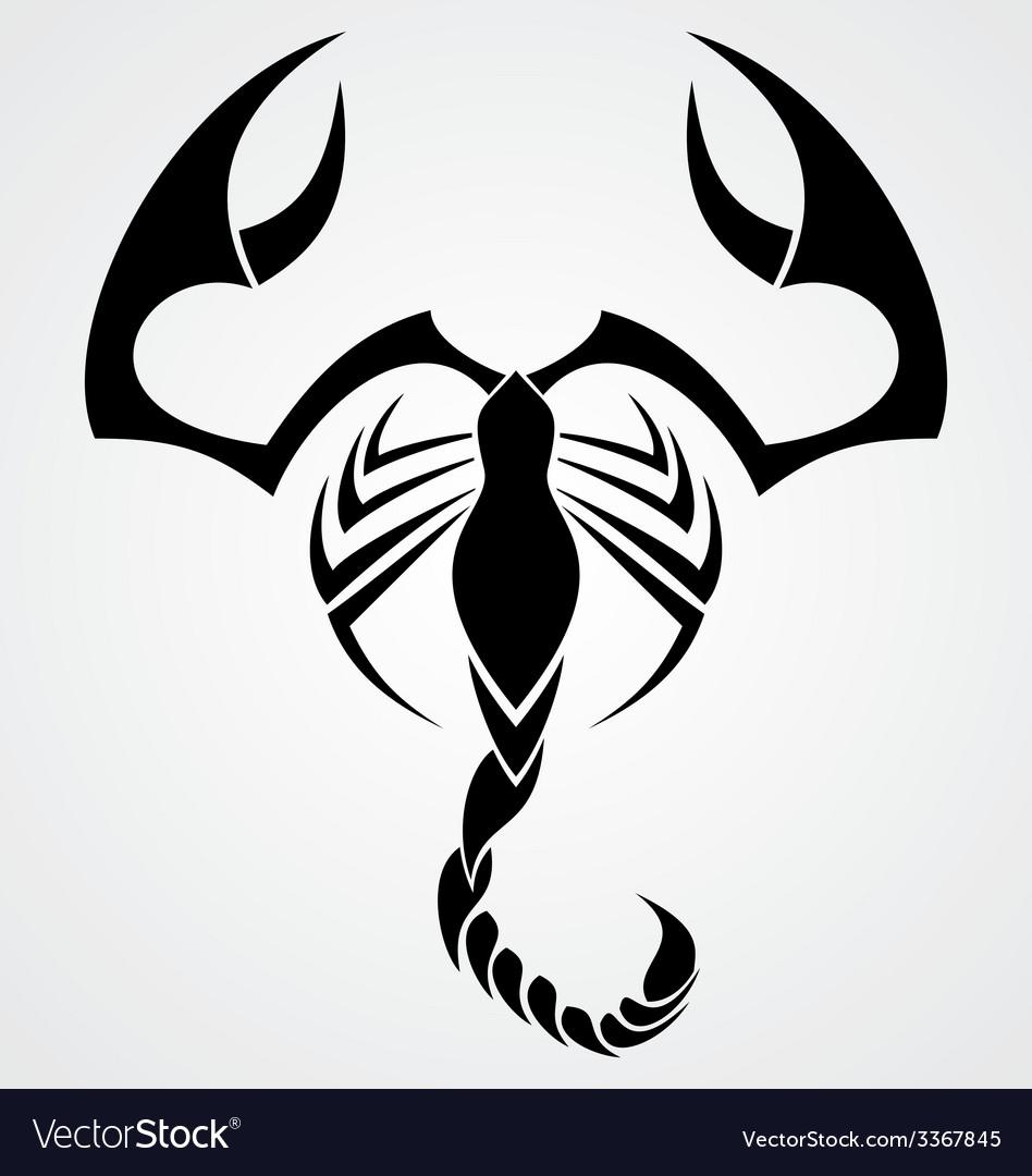 Tribal Scorpion vector image