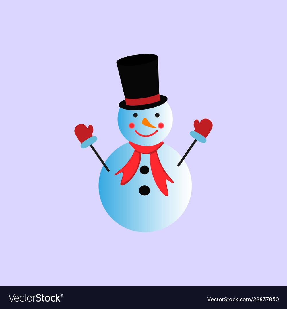 A snowman in the color icon winter