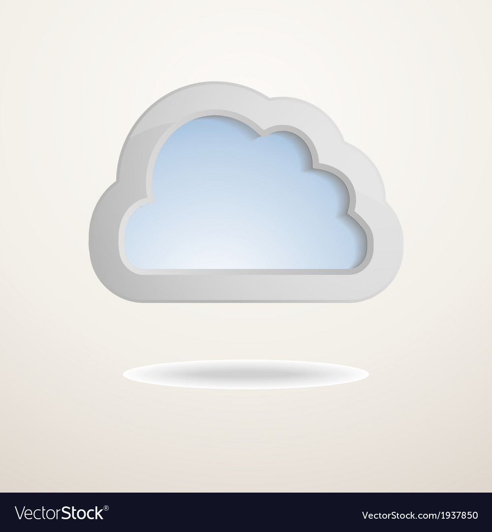Background with a cloud