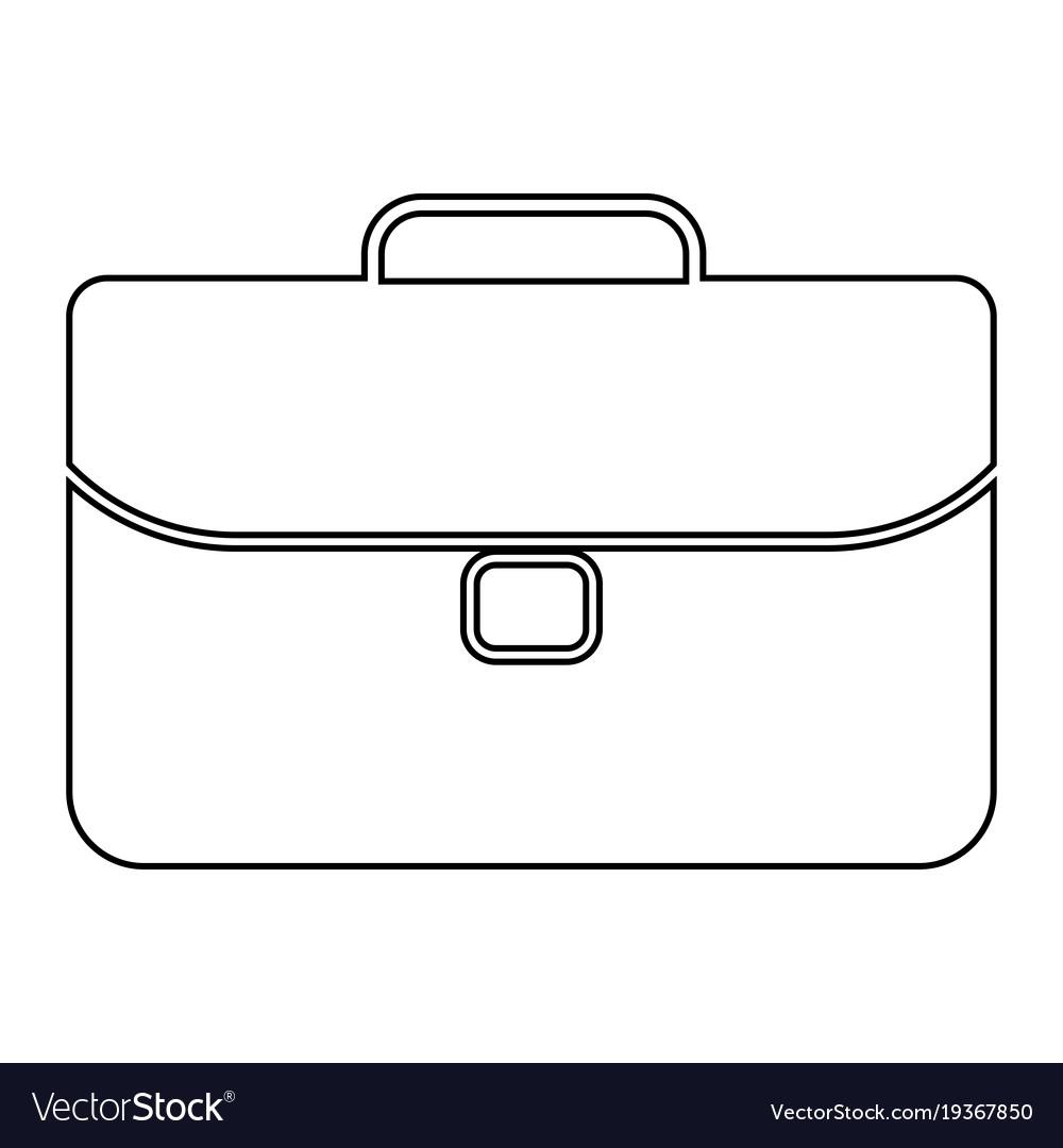 Briefcase icon black color vector image