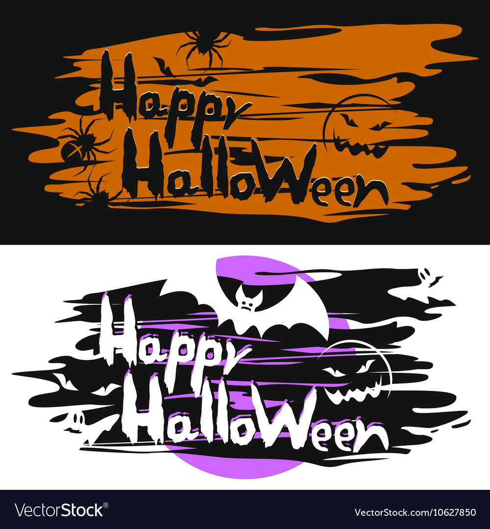 Cards for the Halloween vector image