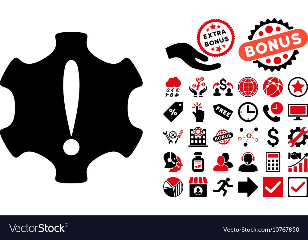 Danger Flat Icon with Bonus