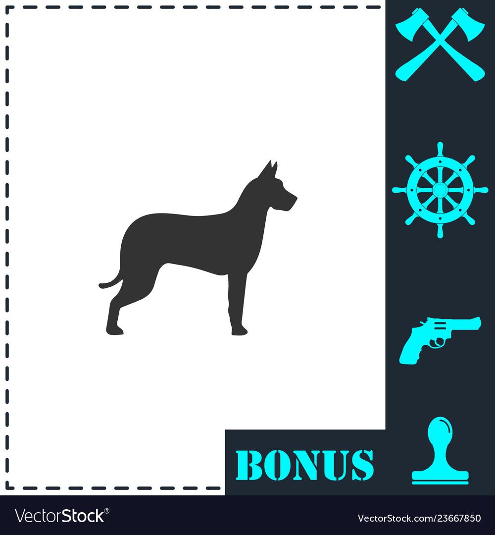 Dog icon flat