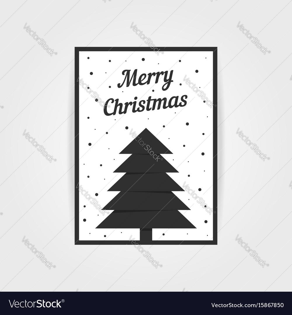 Gothic christmas card with black xmas tree
