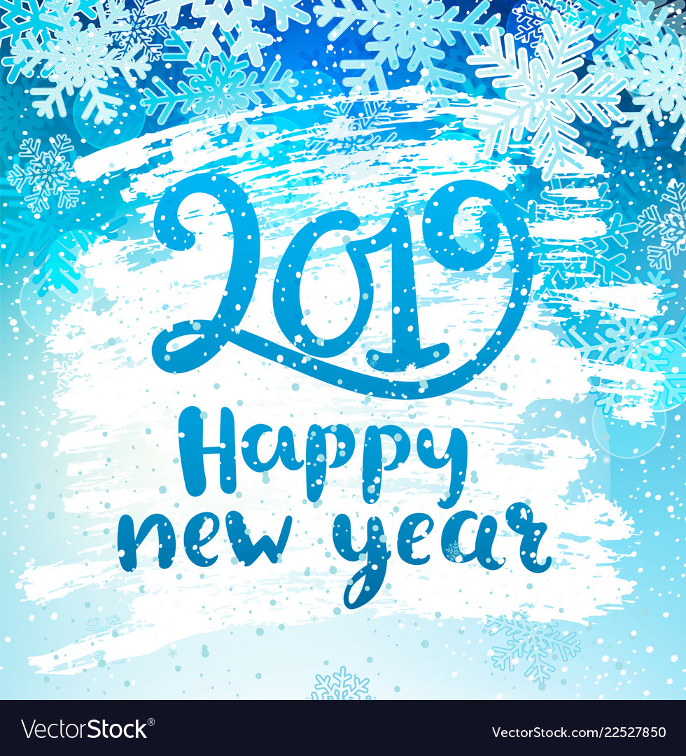 Happy 2019 new year holidays geeting card