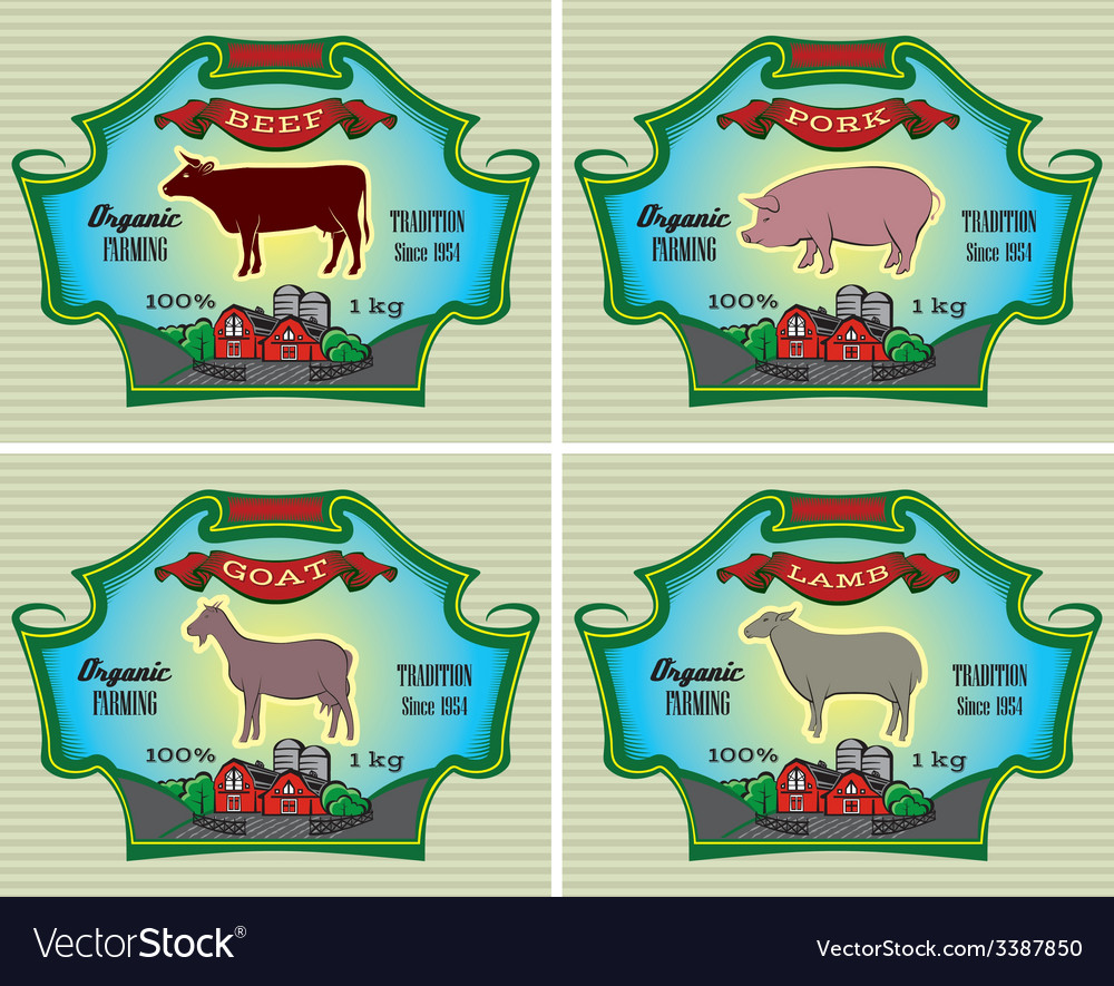Icons pig cow sheep goat