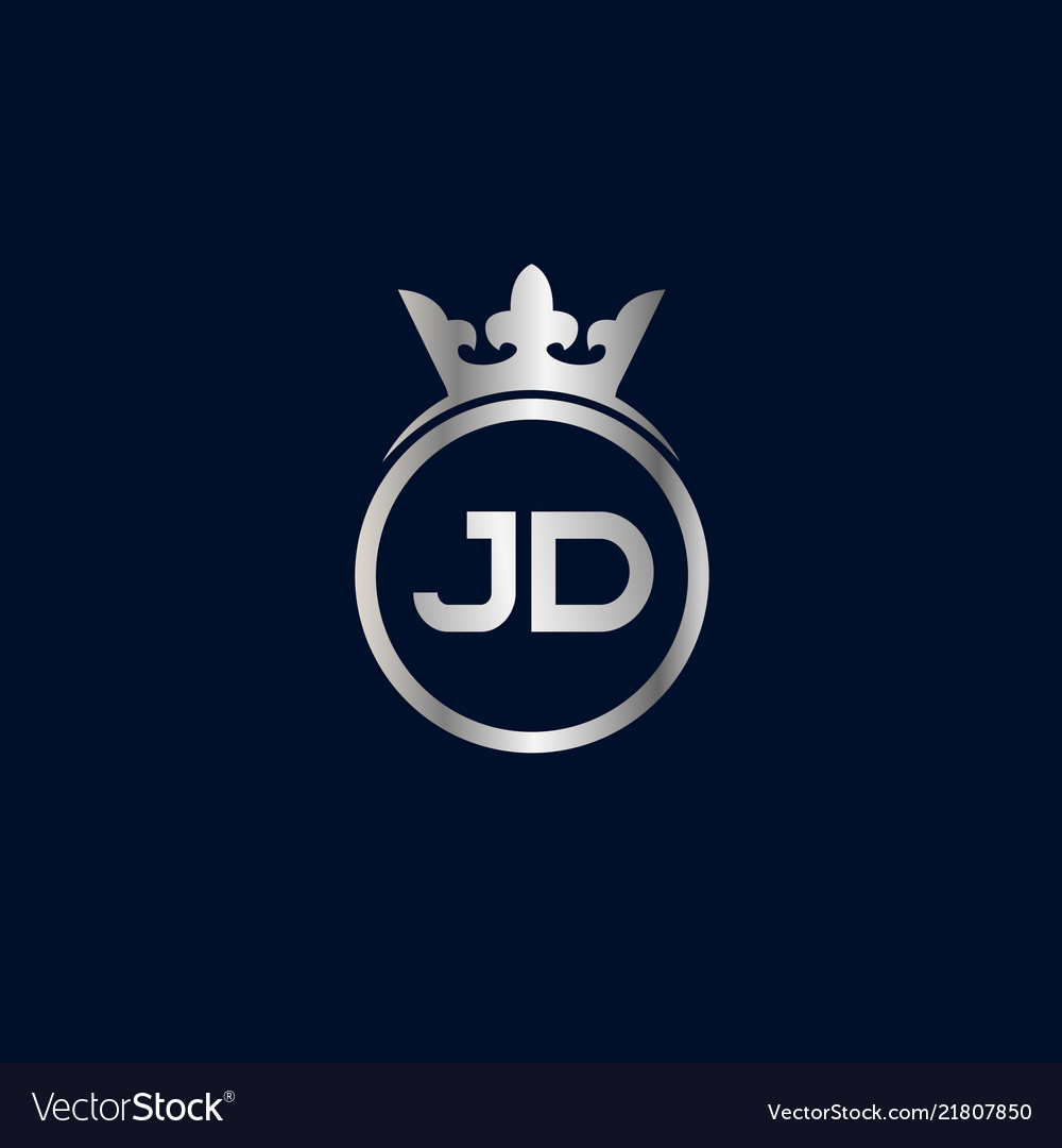 initial letter jd logo template design royalty free vector vectorstock
