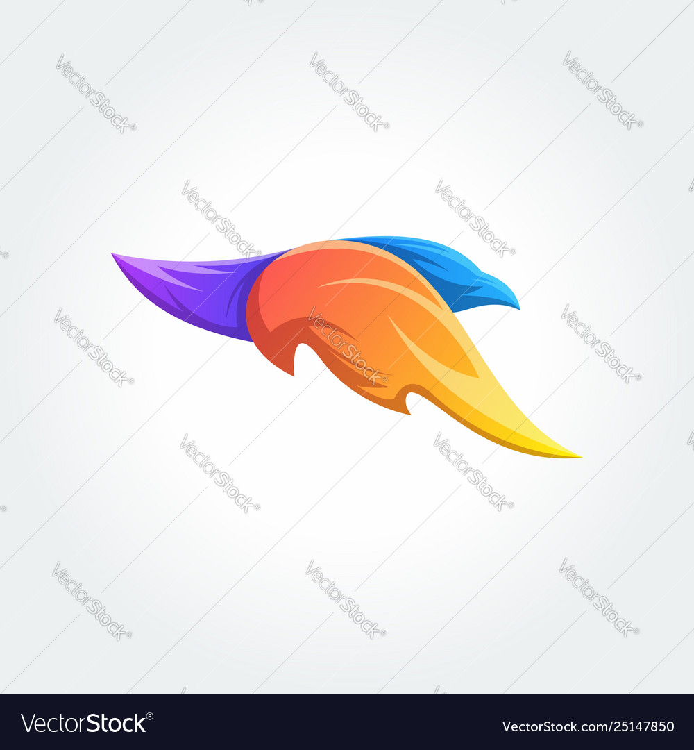 Logo bird template concept design element