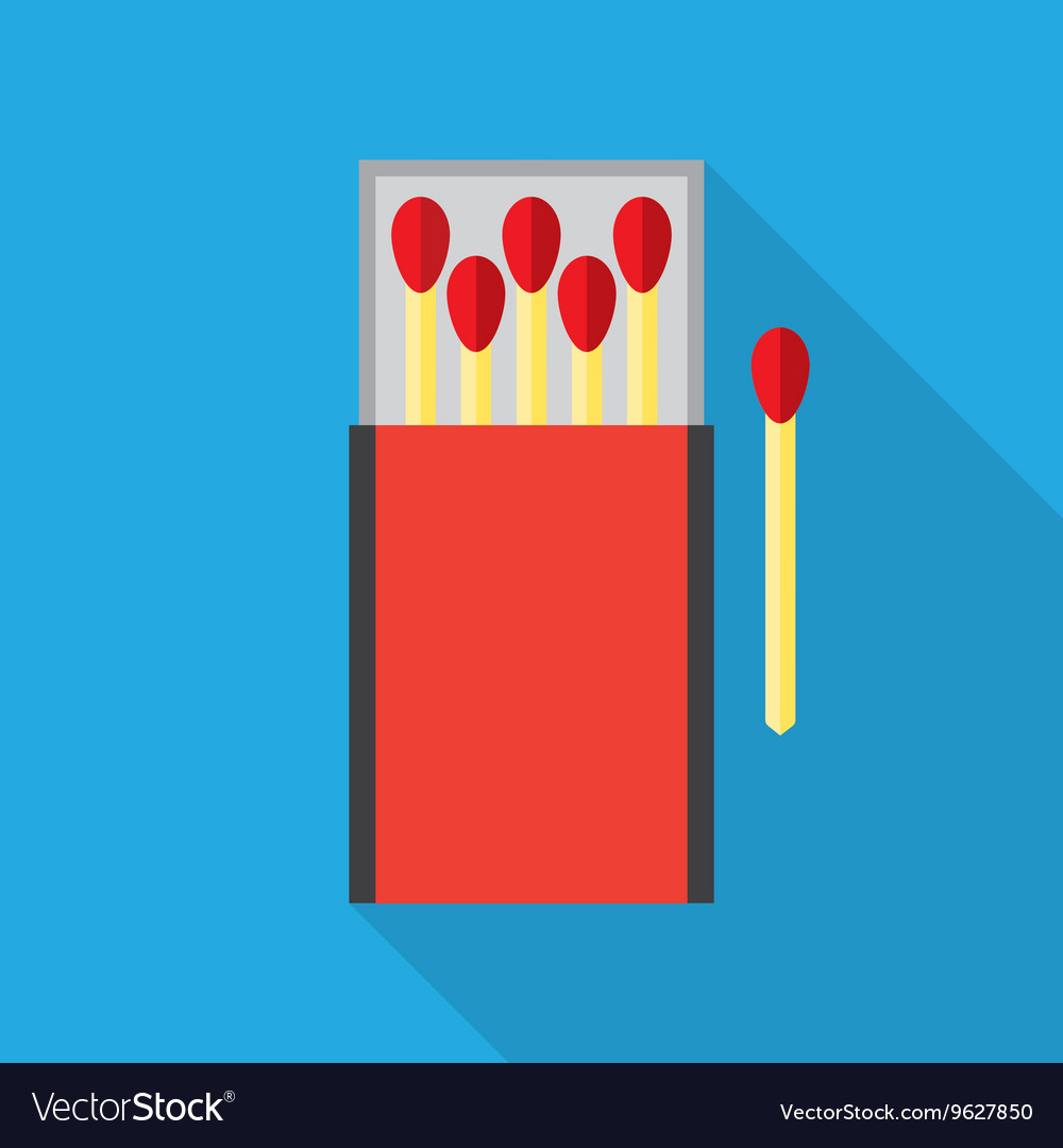 Matchbox and matches Royalty Free Vector Image
