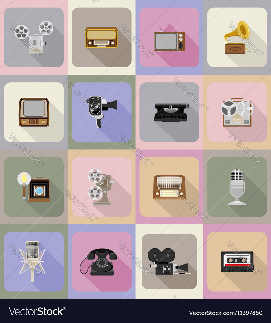 Multimedia flat icons 20