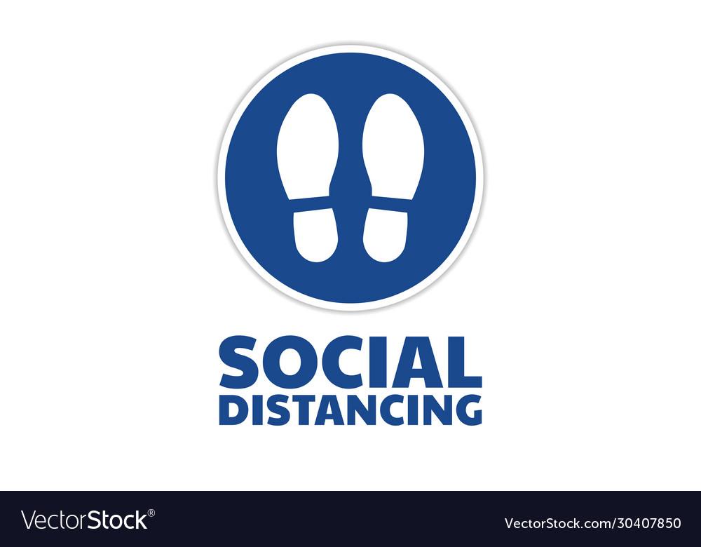 Social distancing sign covid-19 coronavirus