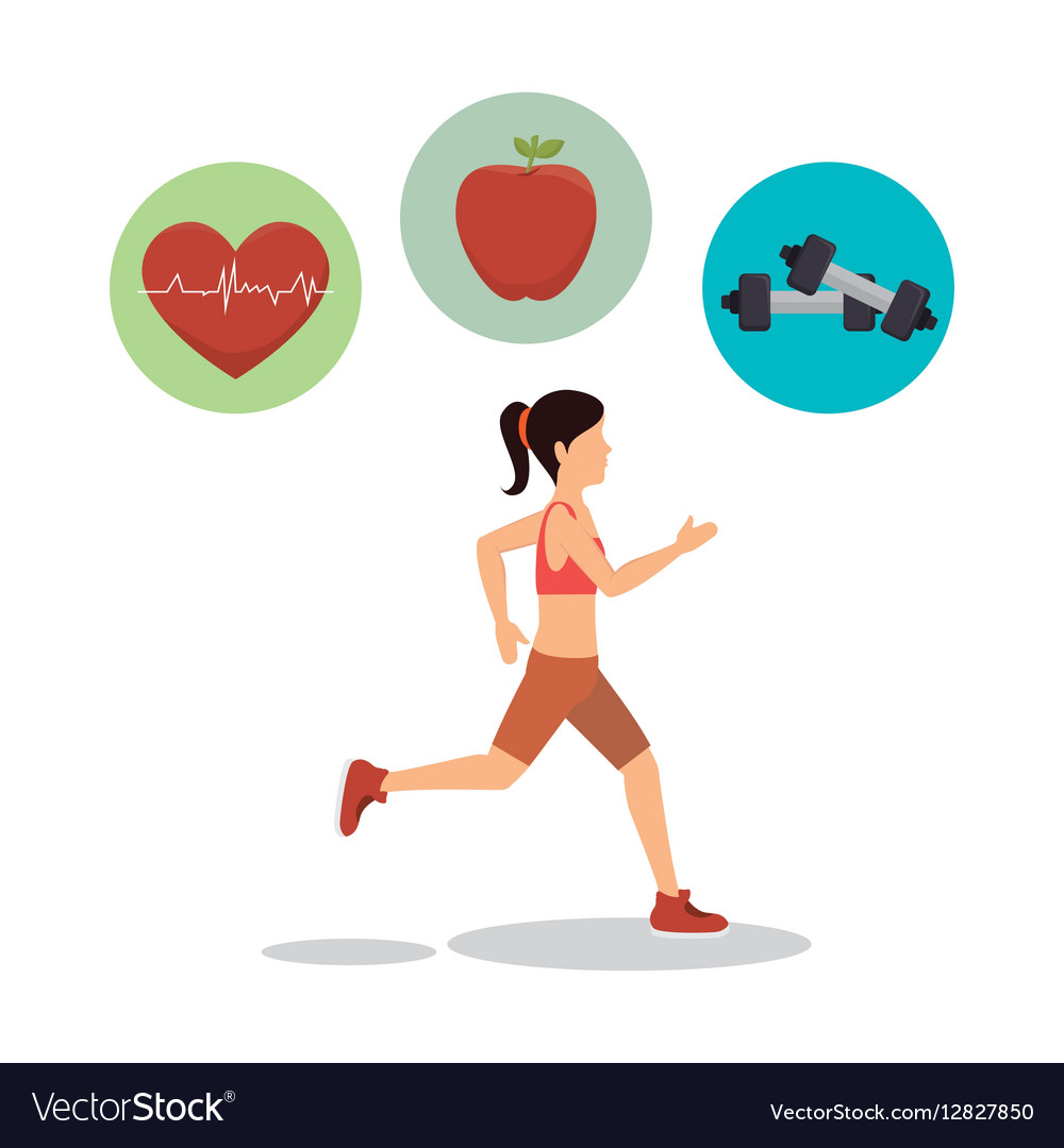 woman athlete avatar fitness sport royalty free vector image