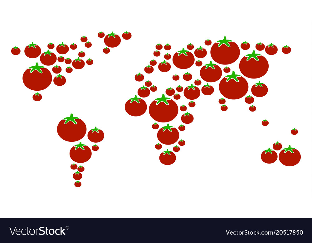 World map collage of tomato royalty free vector image world map collage of tomato vector image gumiabroncs Images