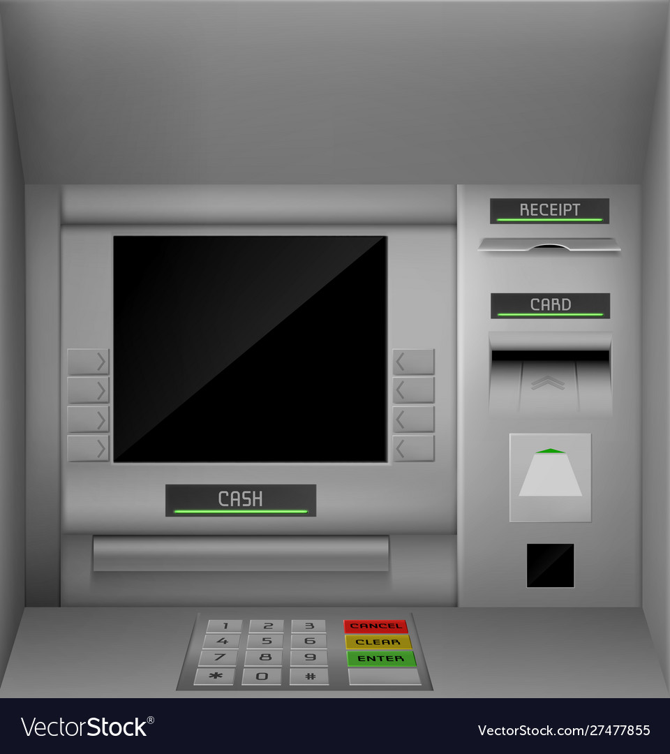 Atm screen automated teller machine monitor