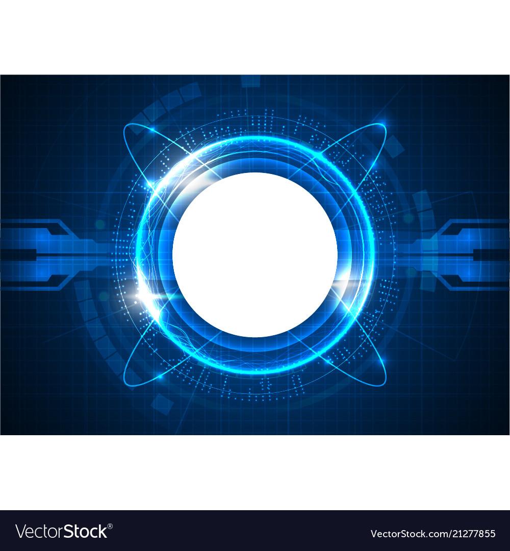Blue futuristic digital circle technology