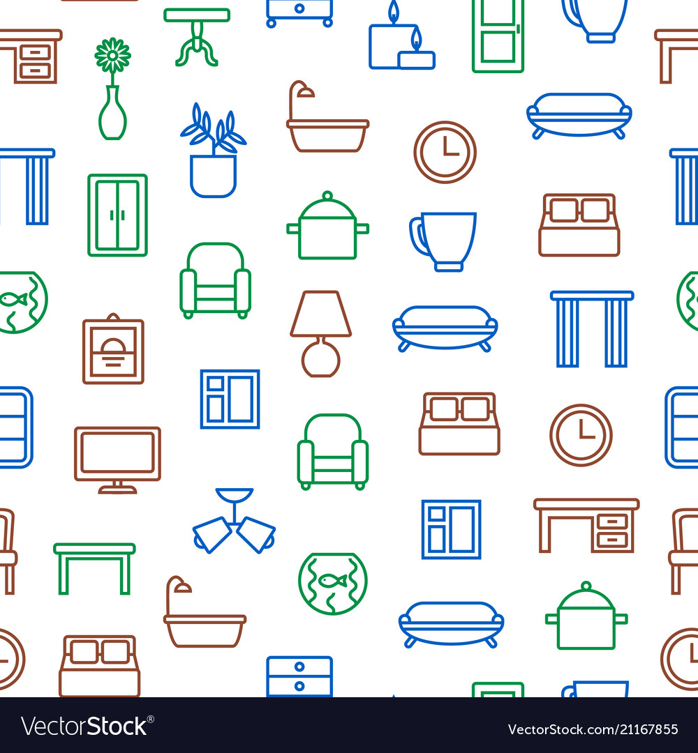 Home decoration signs seamless pattern background