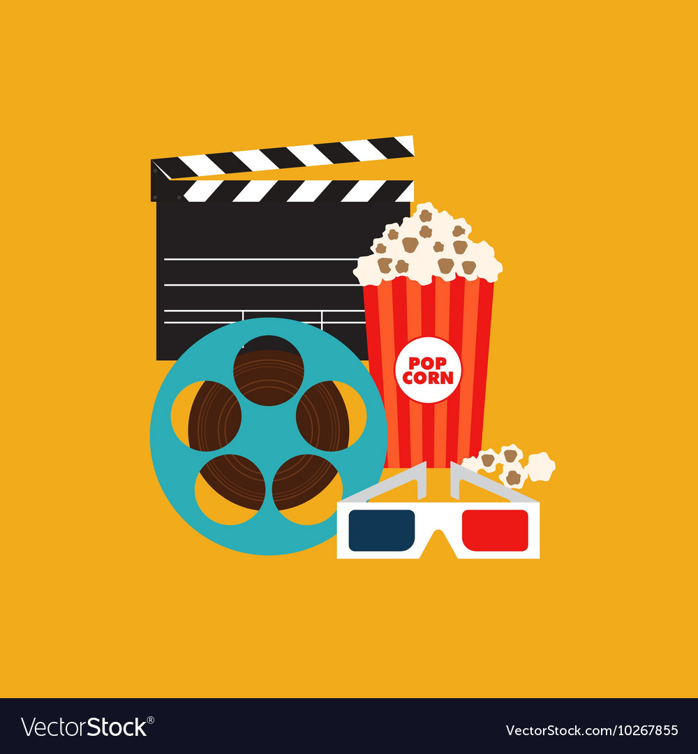 Movie poster flat design