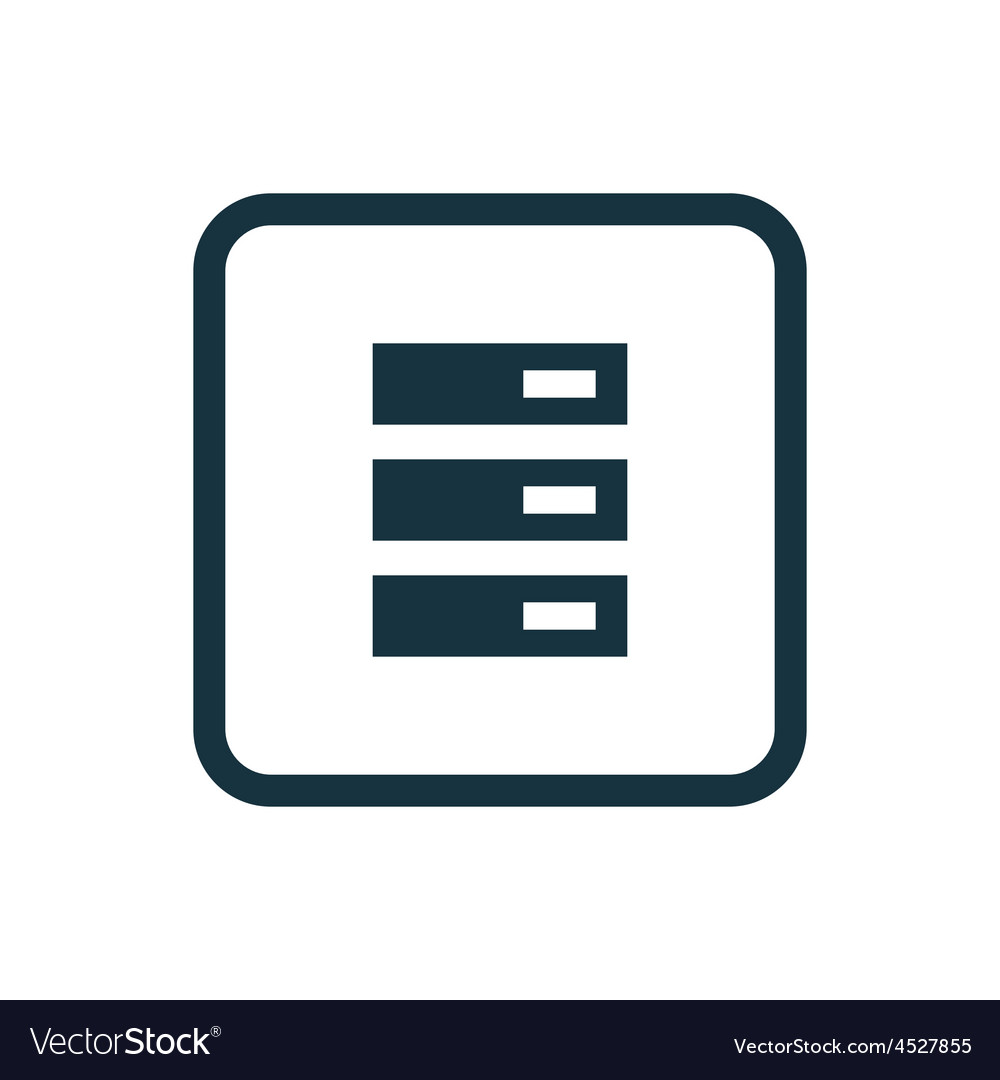 Server icon Rounded squares button