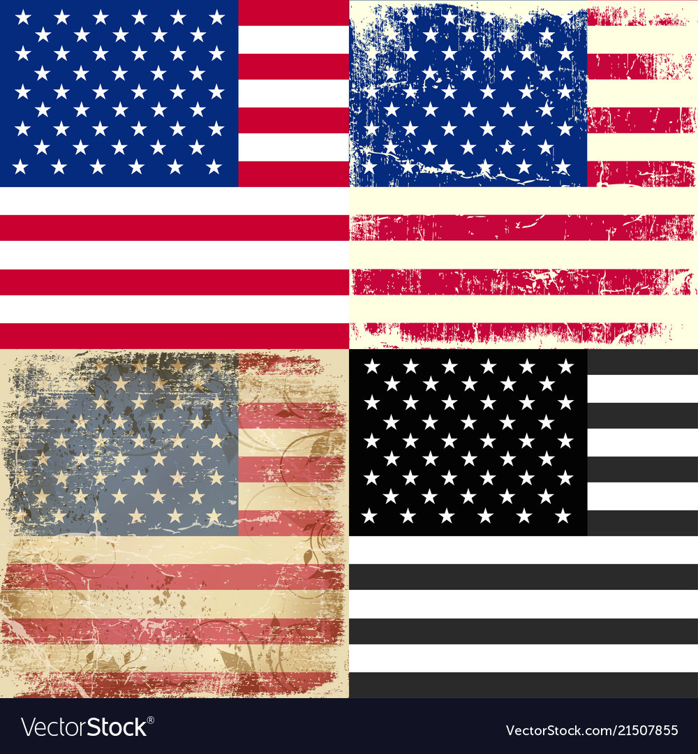 Set collection of american flag