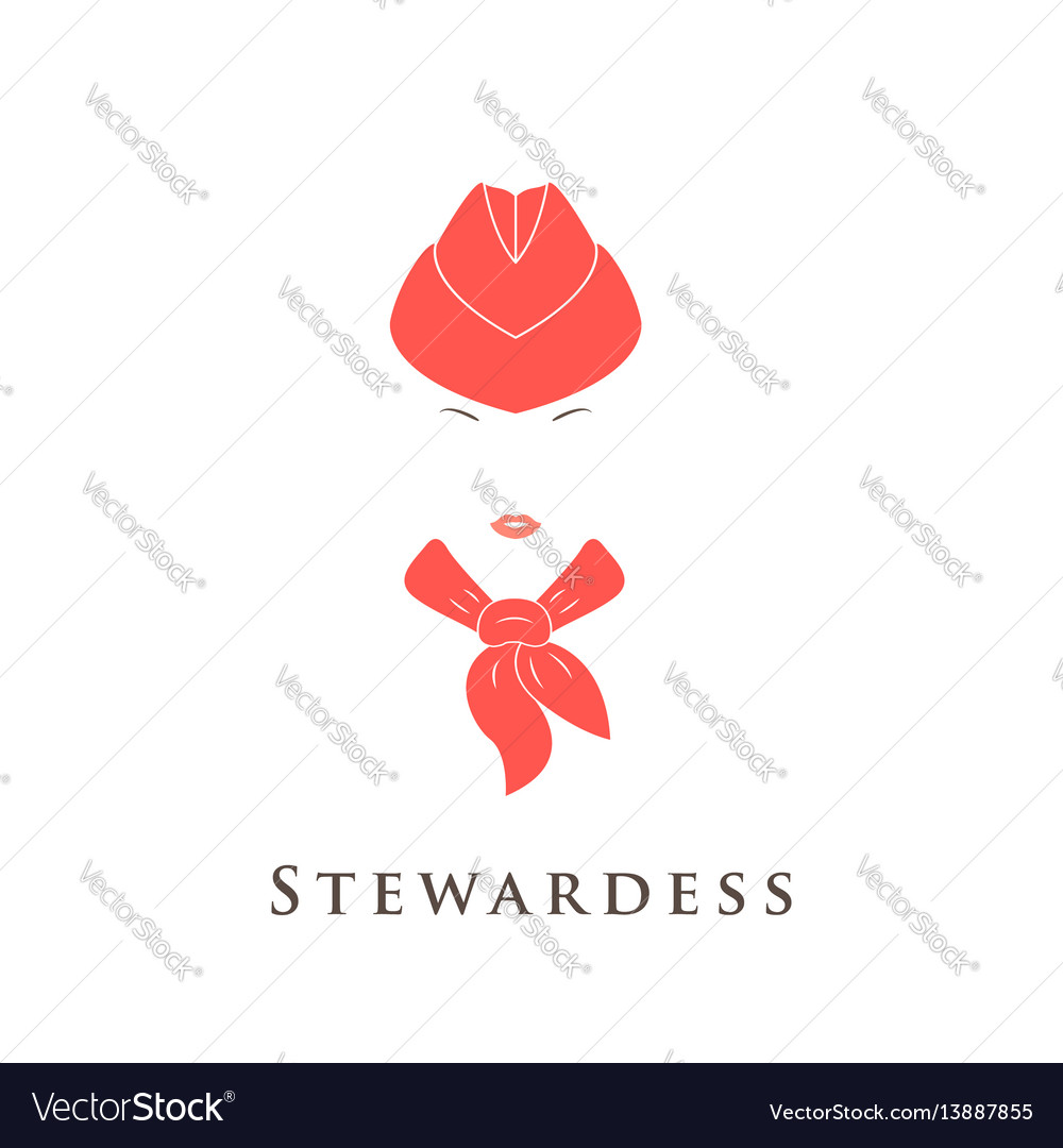 Stewardess icon in simple style