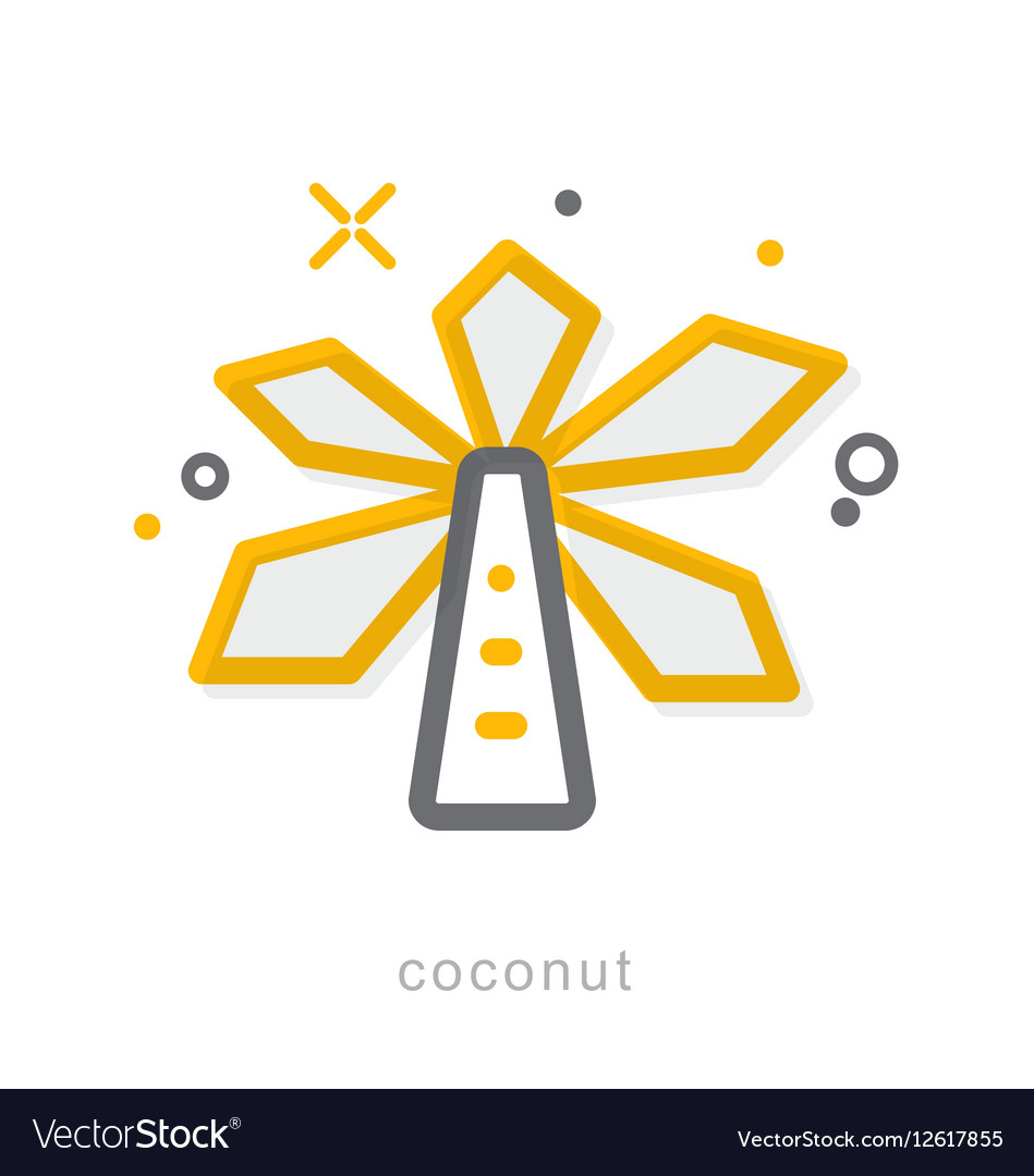 Thin line icons Coconut