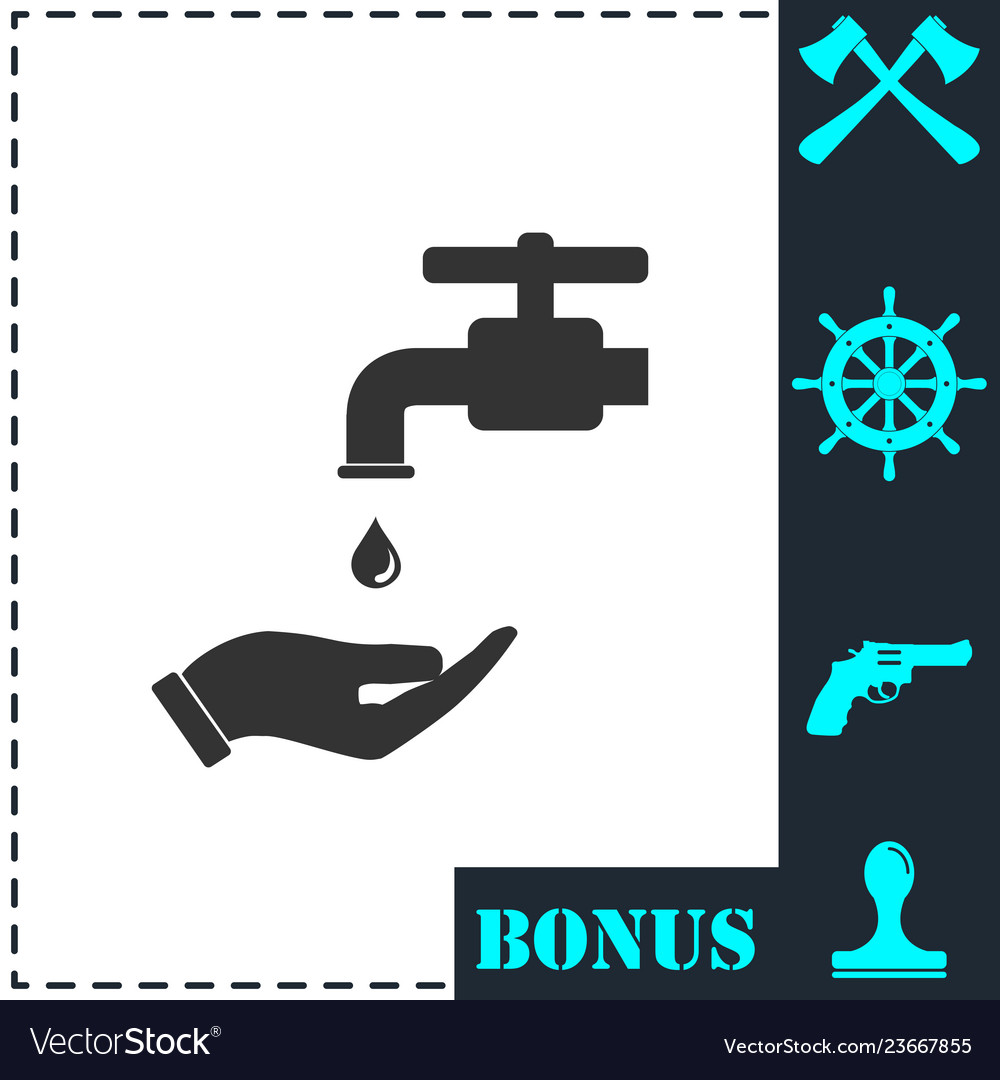 Wash your hands mandatory icon flat