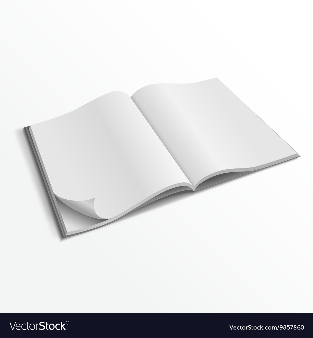 Rintable magazine cover template medium size printable blank.