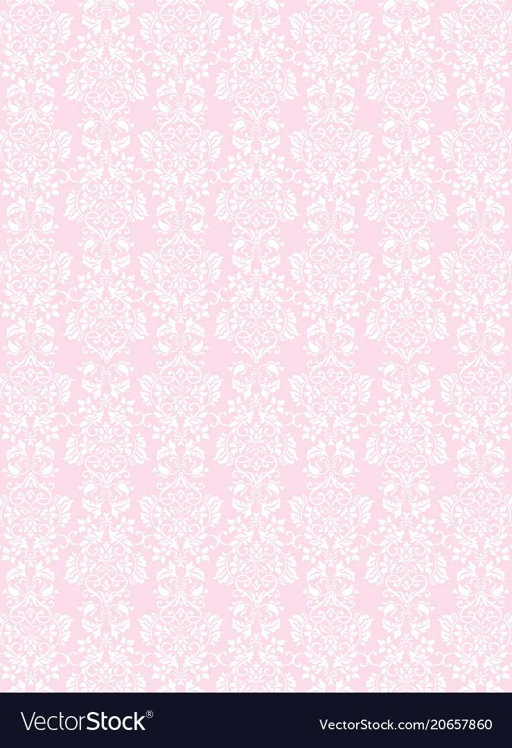 Elegant white flowers pattern textured pink