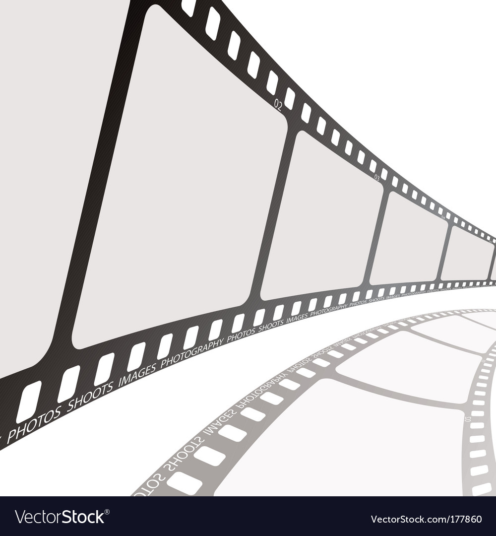 Film reel angle vector image