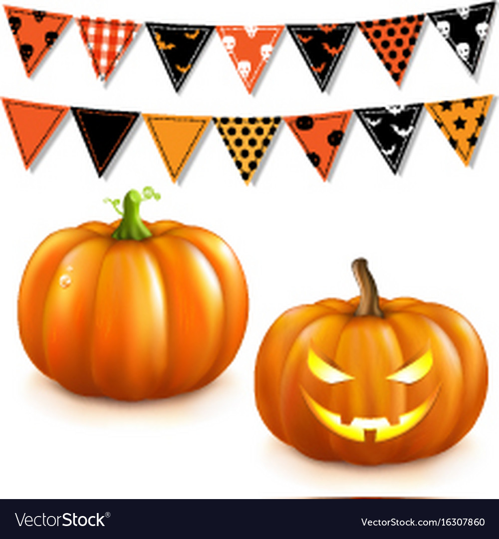 Halloween set vector image