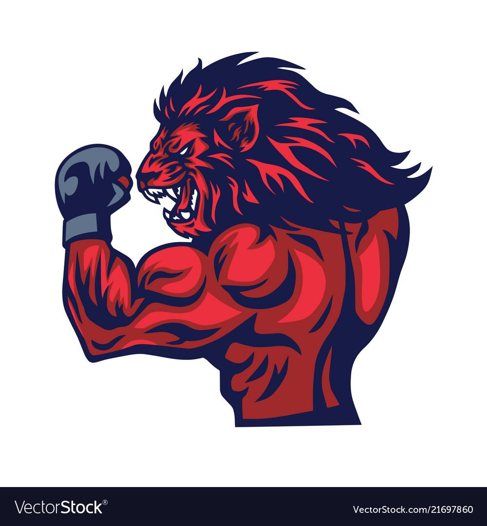 Lion fighter mascot