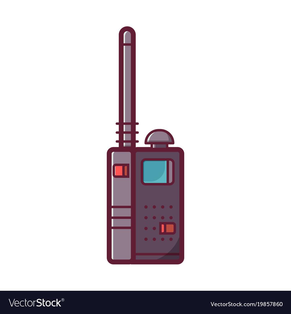 Portable transceiver or radio set icon