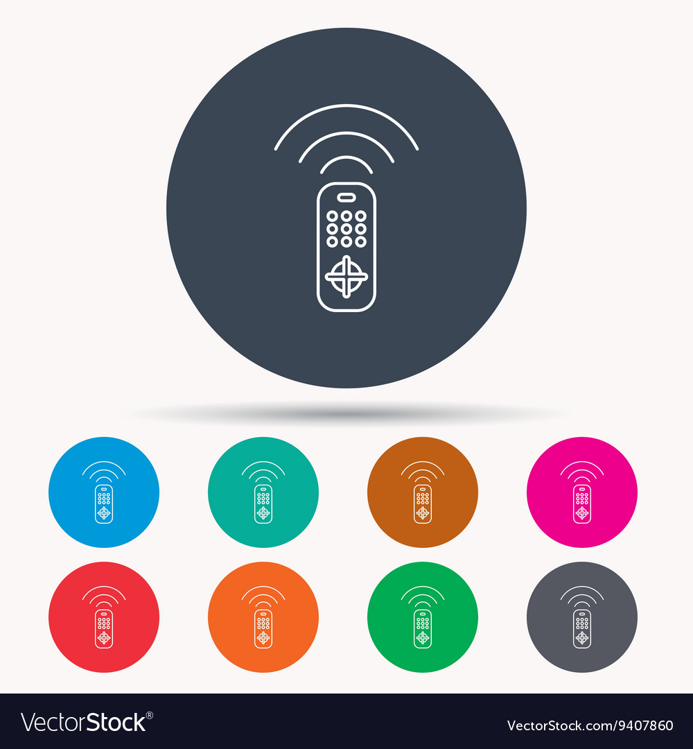 remote control icon tv channels sign royalty free vector