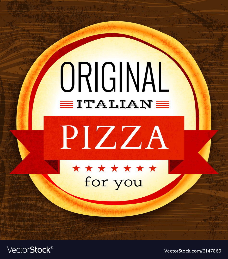 Restaurant menu with pizza