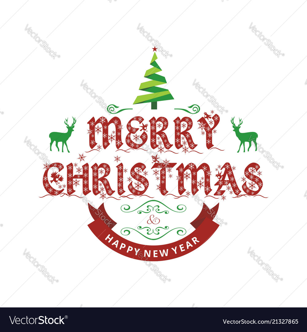 Christmas Greetings Card With Light Simple Vector Image