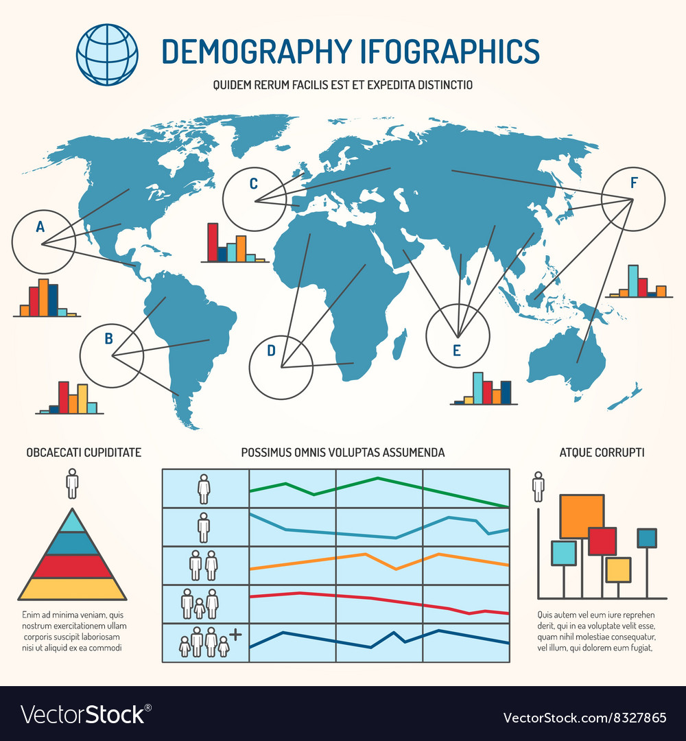 Demographic infographics template