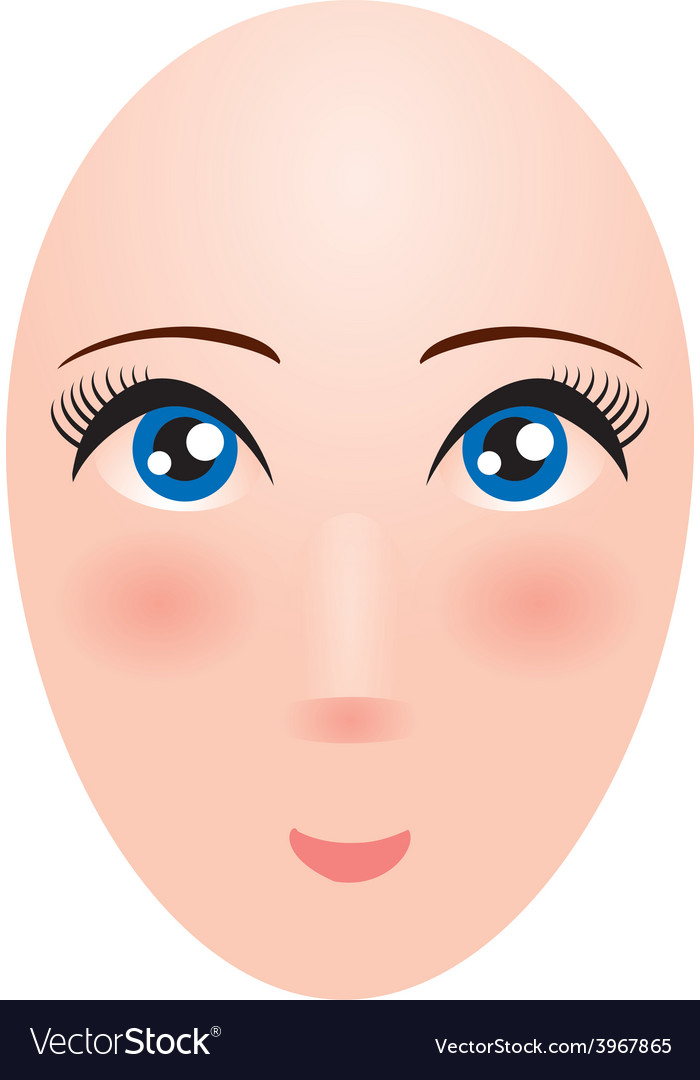 Head of a woman with big eyes Mannequin