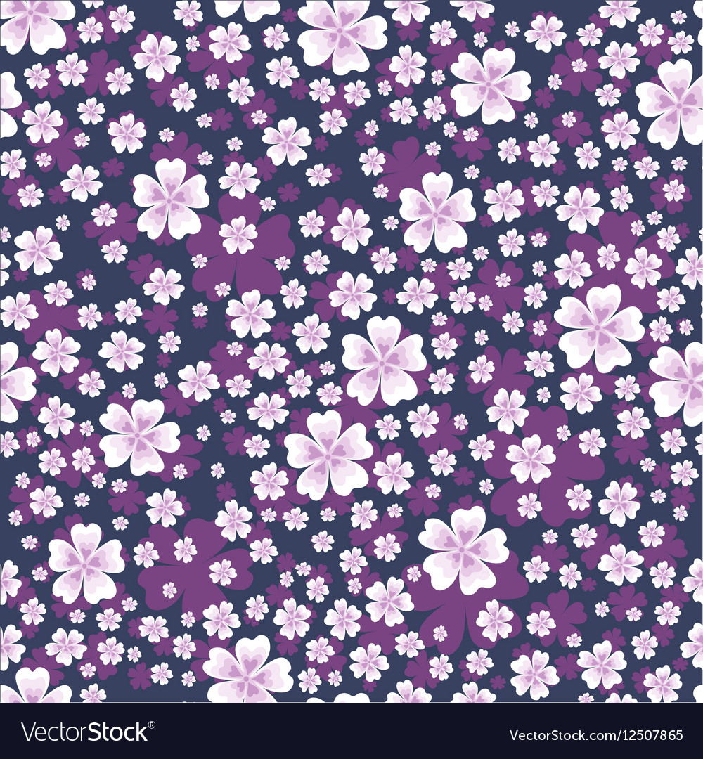 Seamless Floral Pattern With White Colored Flowers
